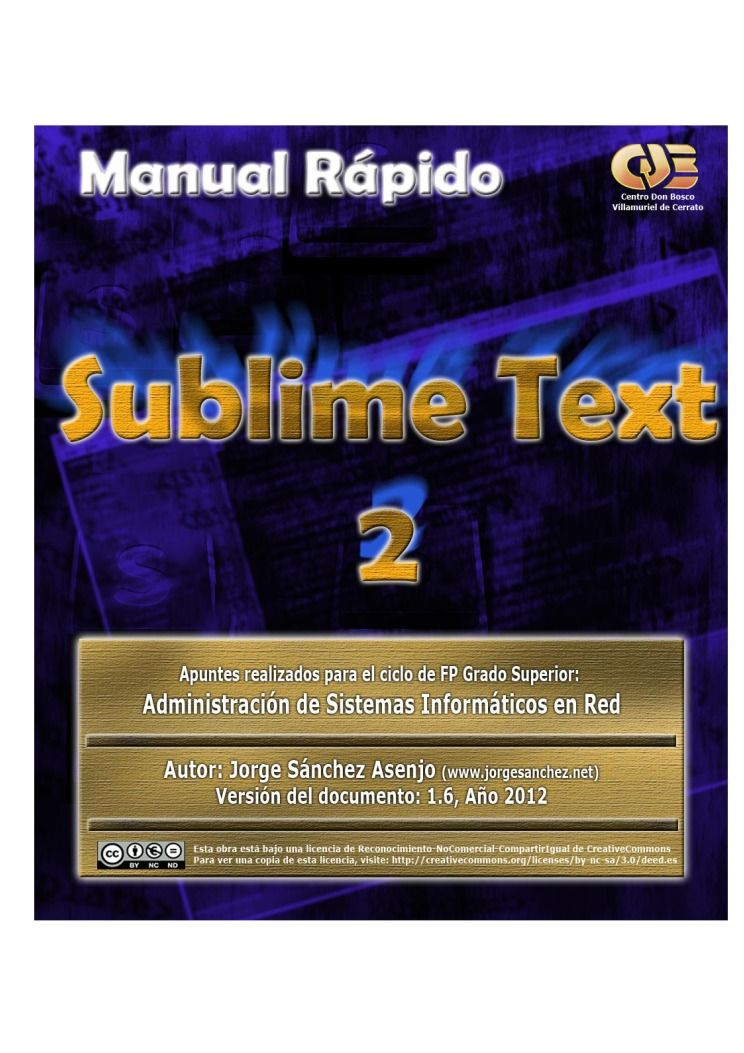 Imágen de pdf Manual Rápido sublime Text 2