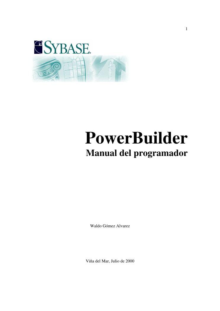 pdf de programaci n powerbuilder manual del programador rh lawebdelprogramador com powerbuilder menu inheritance powerbuilder menu inheritance