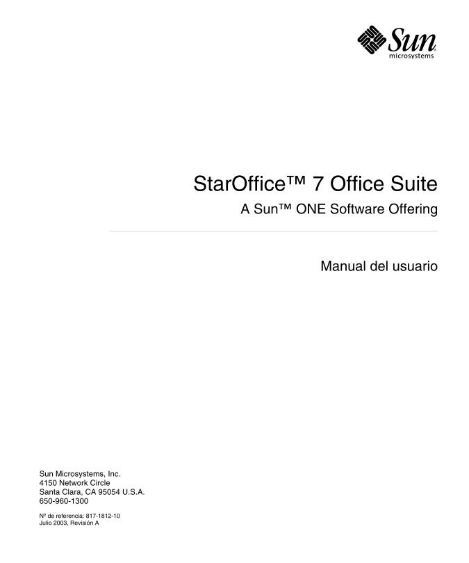 Imágen de pdf StarOffice 7 Office Suite - Manual del usuario
