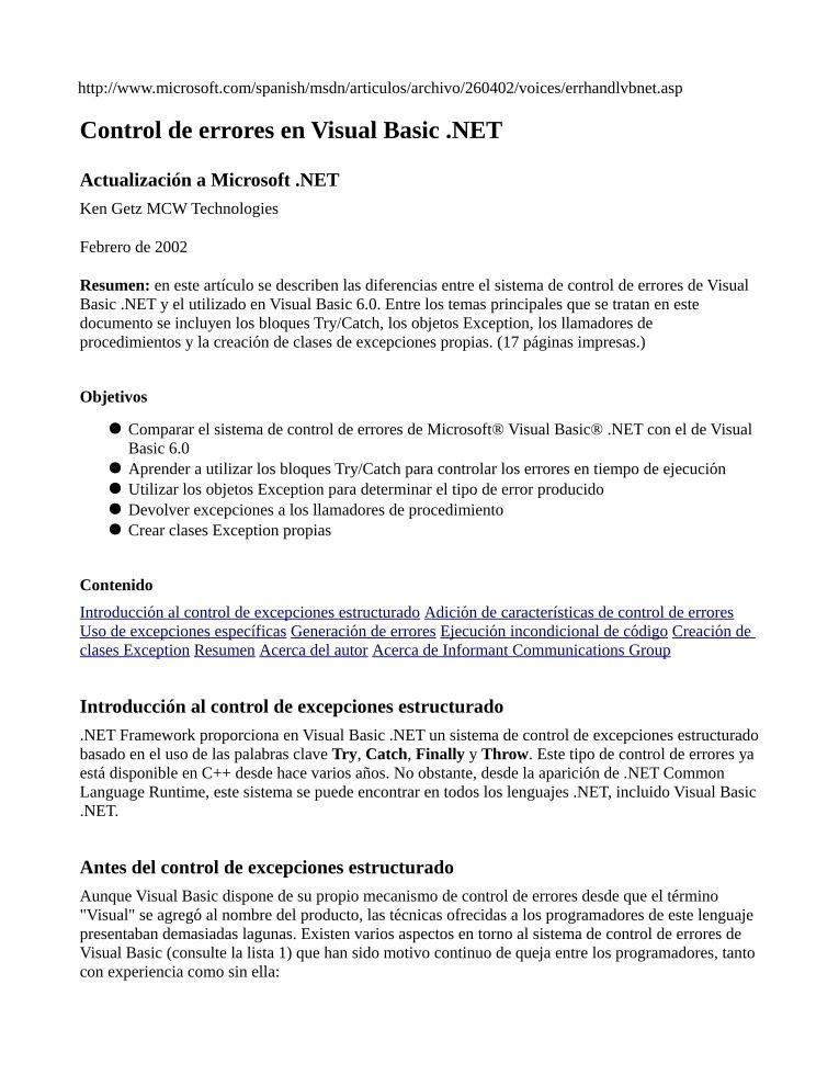 pdf de programación control de errores en visual basic net