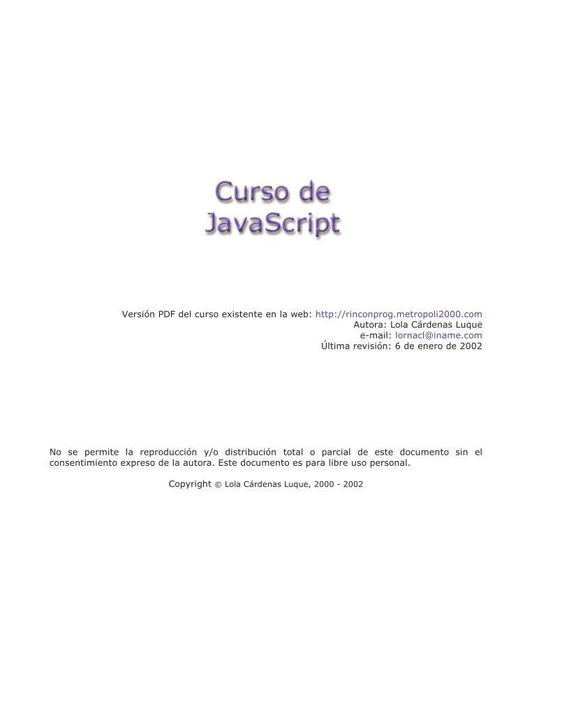 Pdf de programaci n curso de javascript for Curso de ceramica pdf