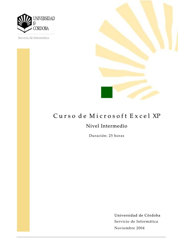 Imágen de pdf Manual de Microsoft Excel XP - nivel intermedio -