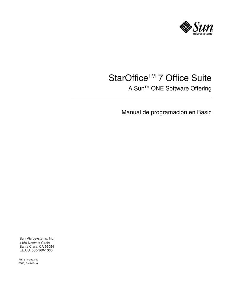 Imágen de pdf StarOffice 7 Office Suite - Manual de programacion en Basic