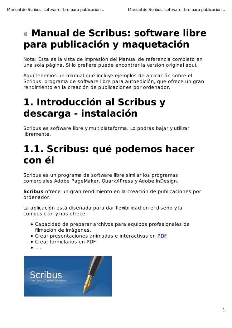 pdf de programaci n ebook scribus software libre para publicacion rh lawebdelprogramador com Facebook En Espanol Musical En Espanol