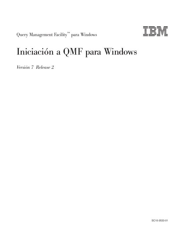 Imágen de pdf Query Management Facility para Windows: Iniciación a QMF para Windows