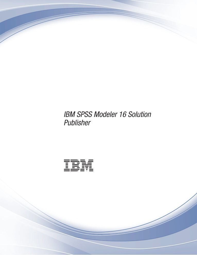 Imágen de pdf IBM SPSS Modeler 16 Solution Publisher