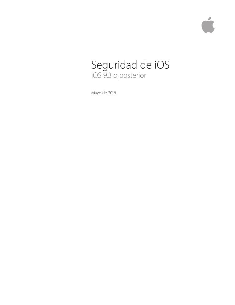 Imágen de pdf iOS Security Guide - iOS 9.3 o posterior