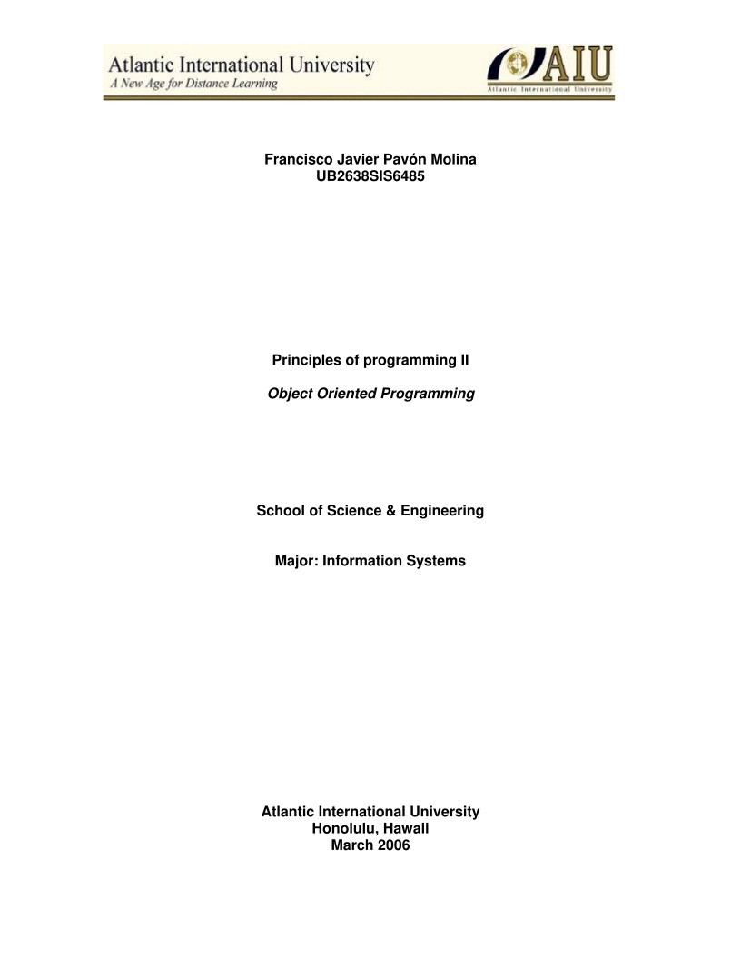 Imágen de pdf Principles of programming: Object Oriented Programming