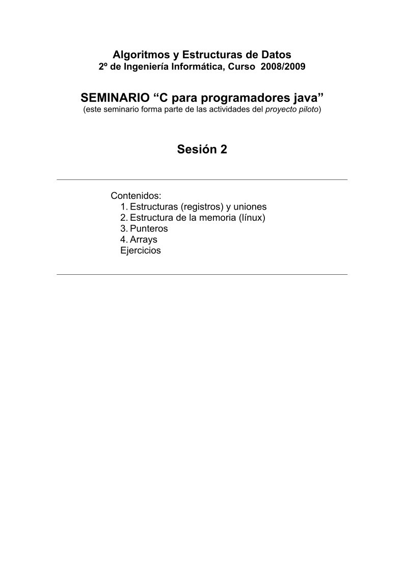 Pdf De Programación Seminario C Para Programadores Java