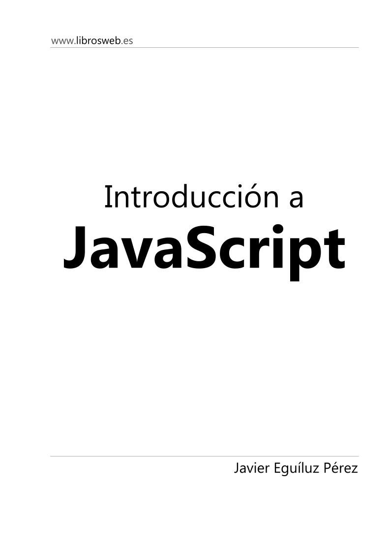 Pdf de programaci n introduccion a javascript for Introduccion a la gastronomia pdf