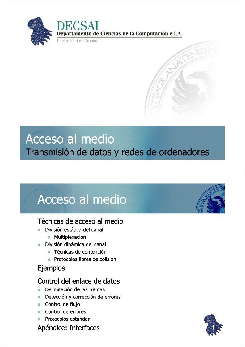 PDF de programación - Acceso al medio - Transmisión de datos y redes ...