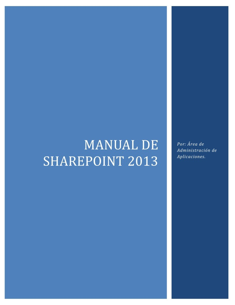 Imágen de pdf Manual de SharePoint 2013