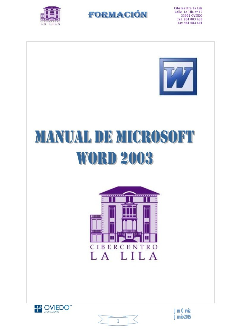 Imágen de pdf WORD 2003 MANUAL