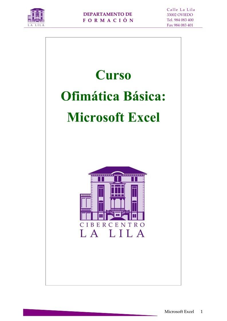 Pdf de programaci n curso ofim tica b sica microsoft excel for Curso de cocina basica pdf