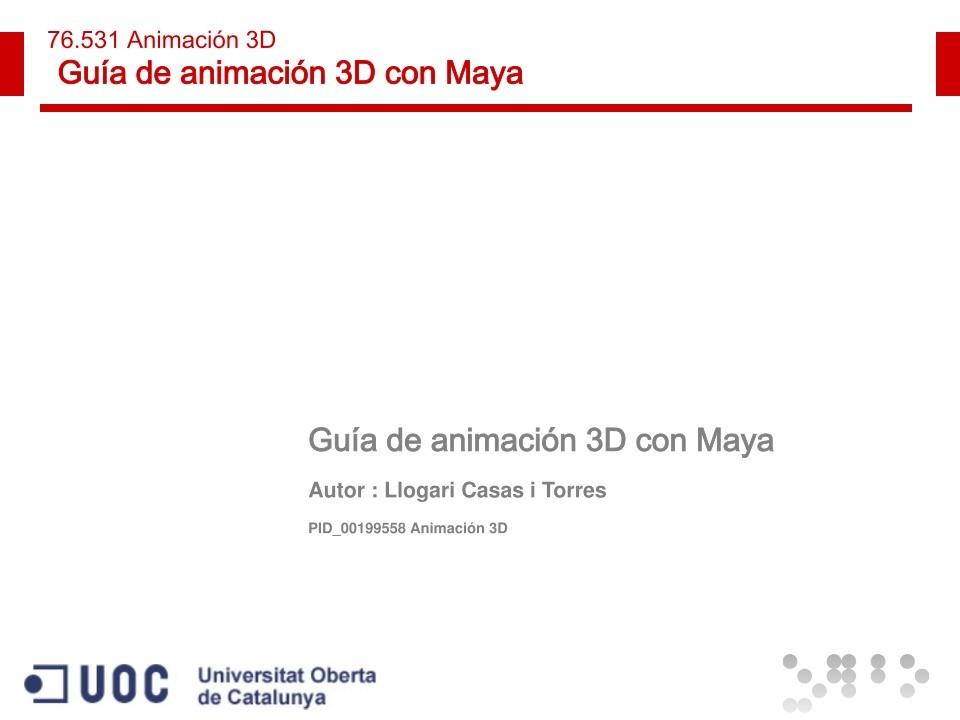 Pdf de programaci n gu a de animaci n 3d con maya for Guia mecanica de cocina pdf