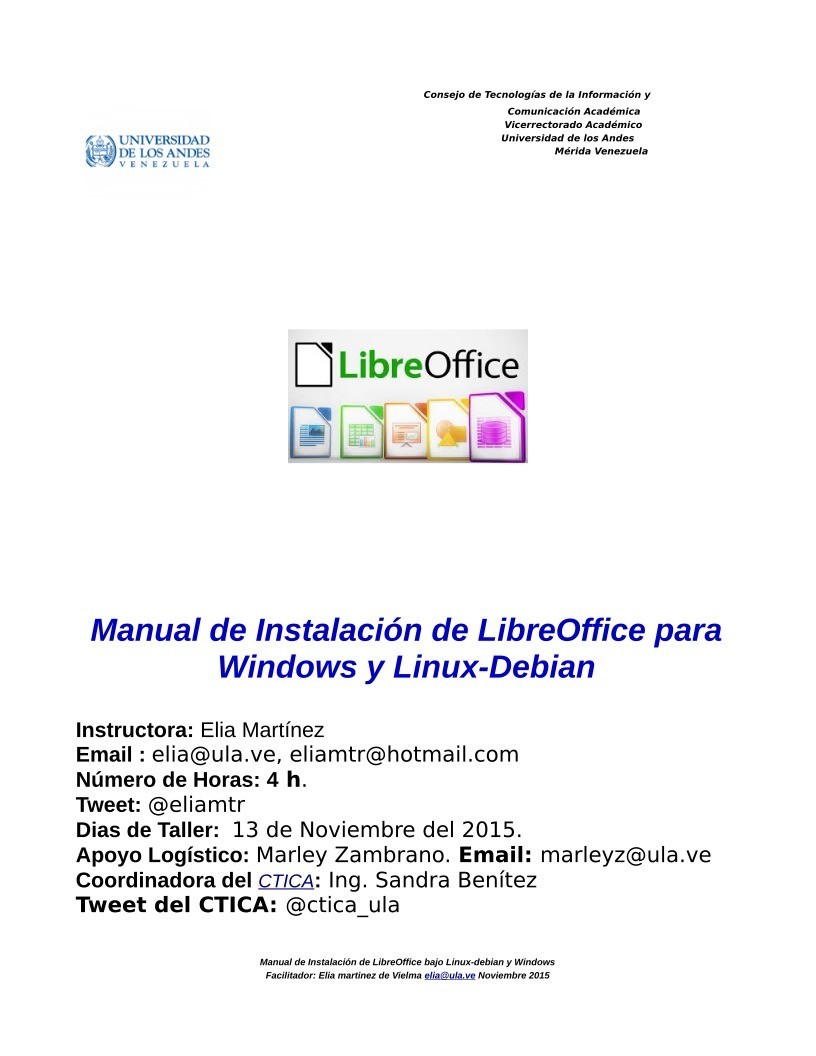 Imágen de pdf Manual de instalación de LibreOffice bajo Windows y Linux-Debian