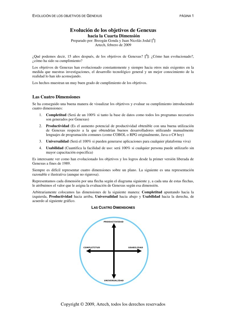 PDF de programación - Genexus: Hacia la Cuarta Dimensión