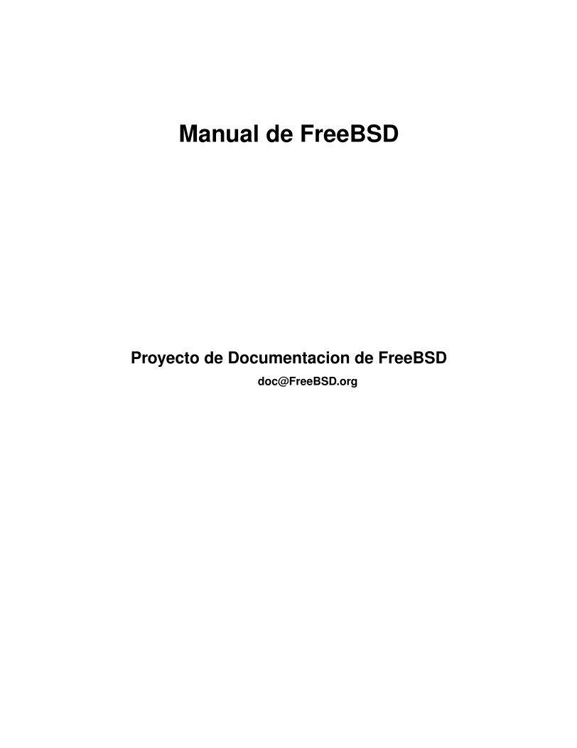 Imágen de pdf Manual de FreeBSD