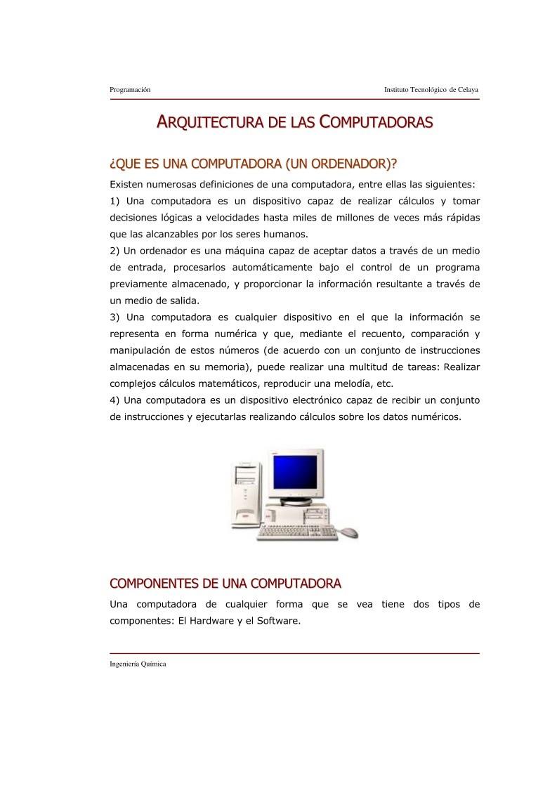 pdf de programaci n arquitectura de las computadoras