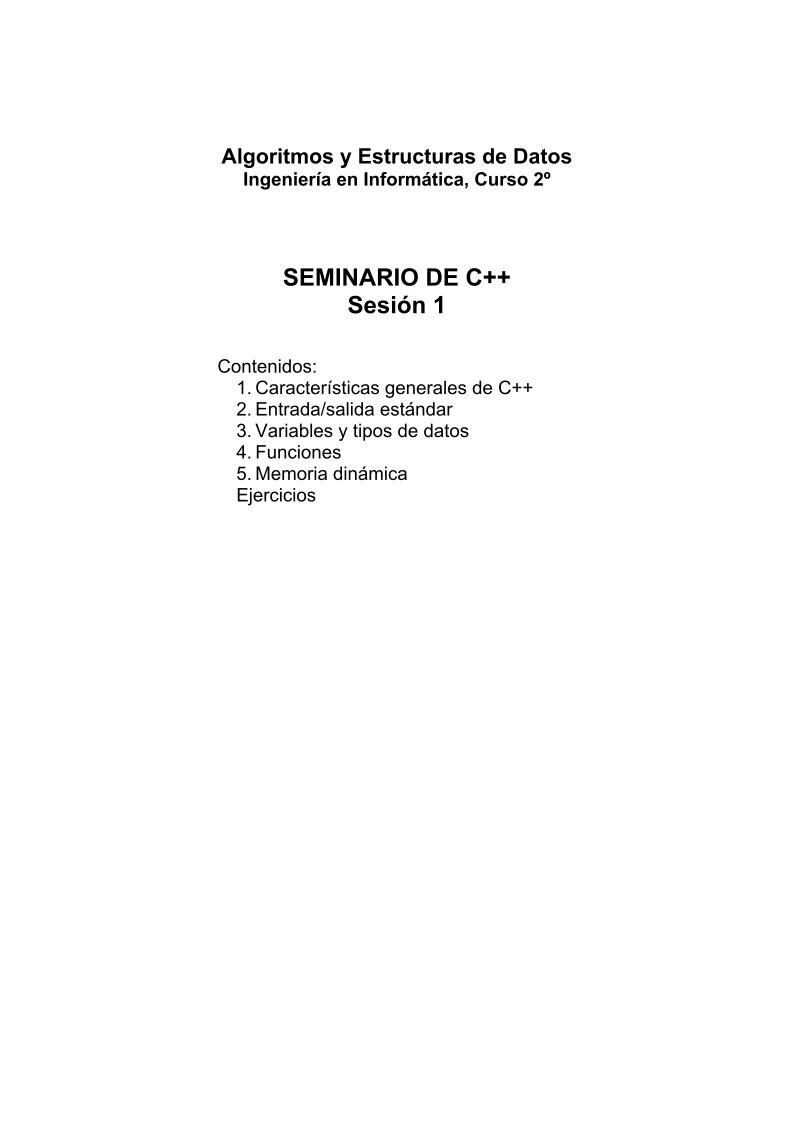 Pdf De Programación Seminario De C Sesión 1
