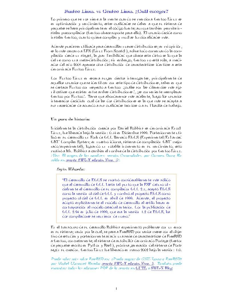 PDF de programación - Funtoo vs Gentoo