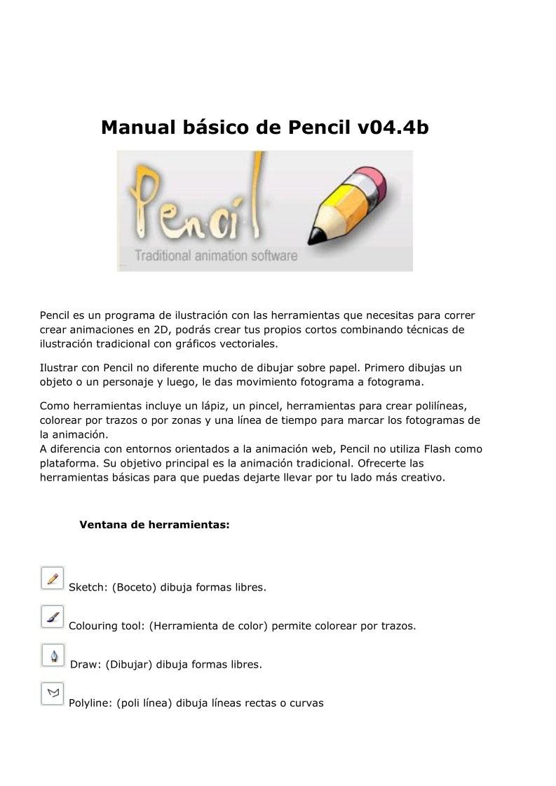 PDF de programación - Manual básico de Pencil v04.4b