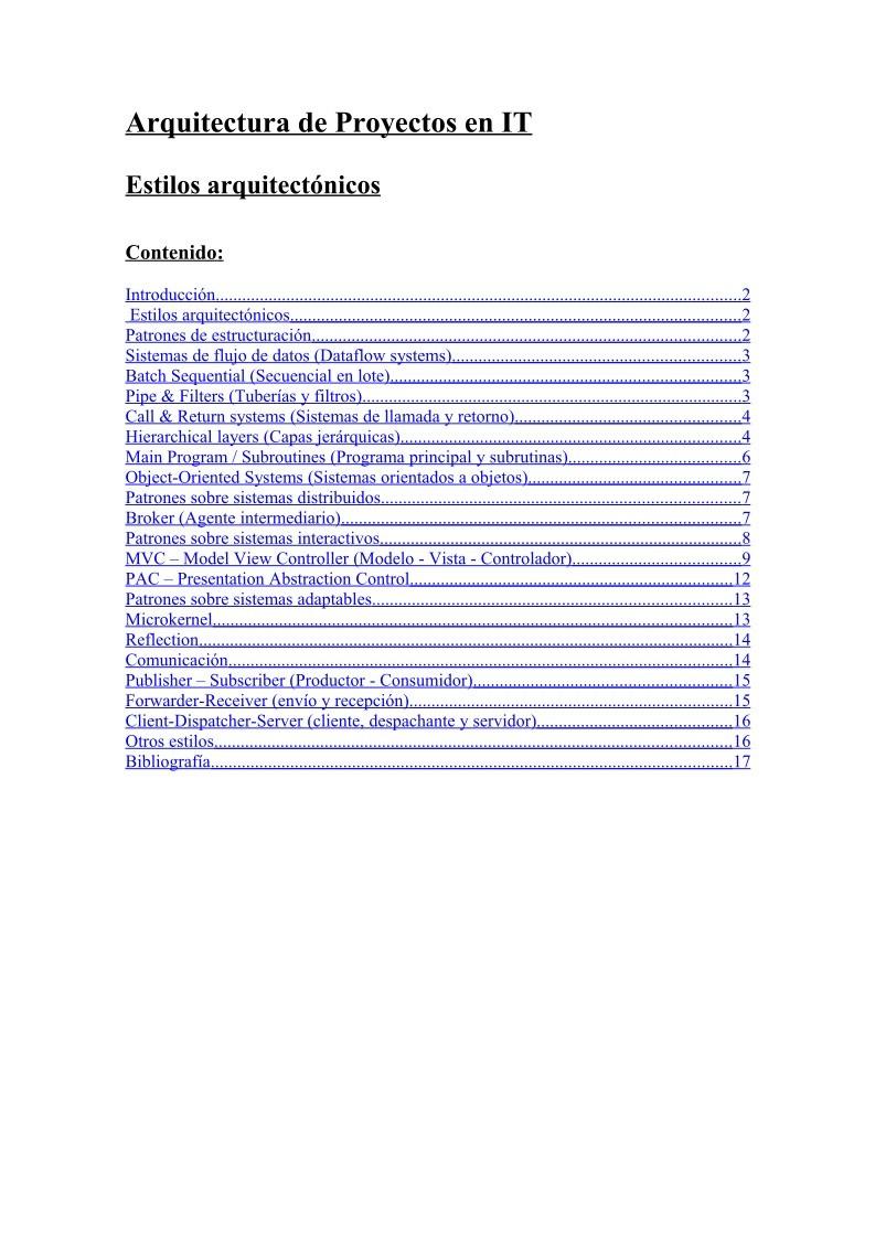 pdf de programaci n estilos arquitect nicos On proyectos de arquitectura pdf