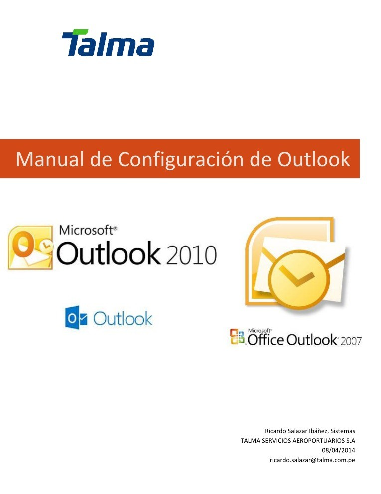 Imágen de pdf Manual de Configuración de Outlook