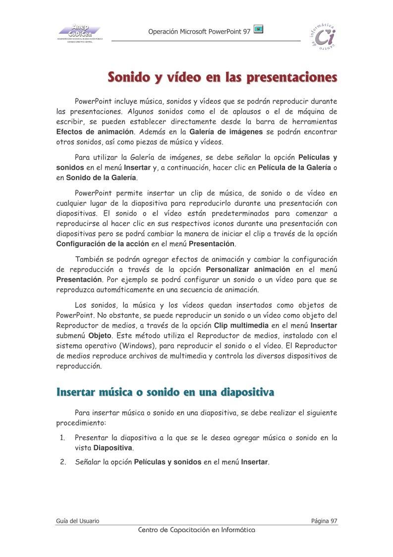 PDF de programación - Capitulo 13 Guía del Usuario Operación ...