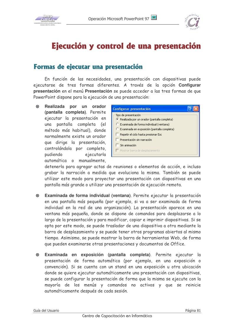 PDF de programación - Capitulo 10 - Guía del Usuario Operación ...