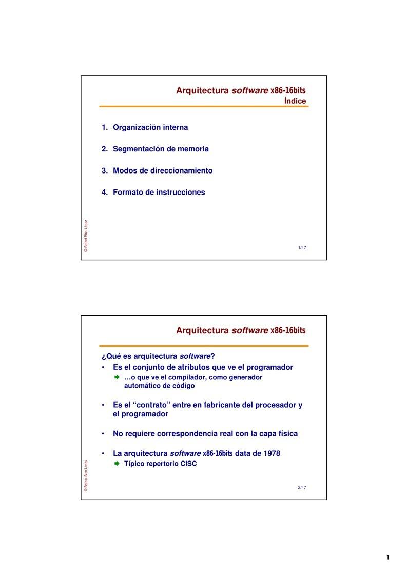 Pdfs de programaci n for Arquitectura x86 pdf