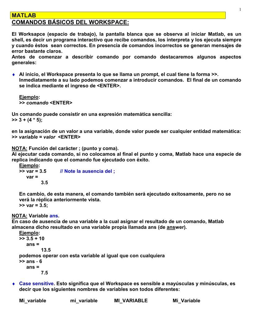 PDF de programación - Optimización con Matlab