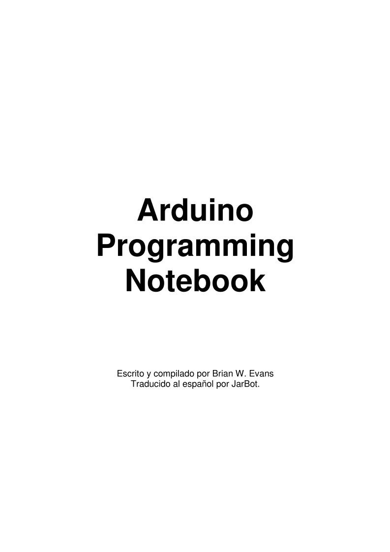 Pdf De Programación Arduino Programming Notebook