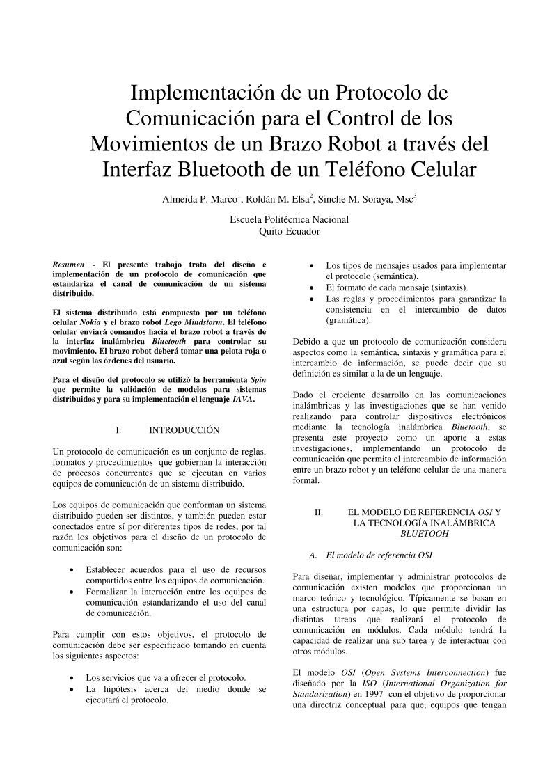 PDF de programación - Implementación de un Protocolo de Comunicación ...