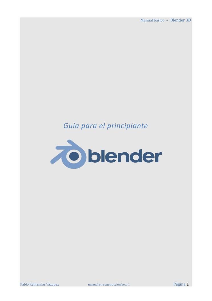 CURSO BLENDER GRATIS PDF
