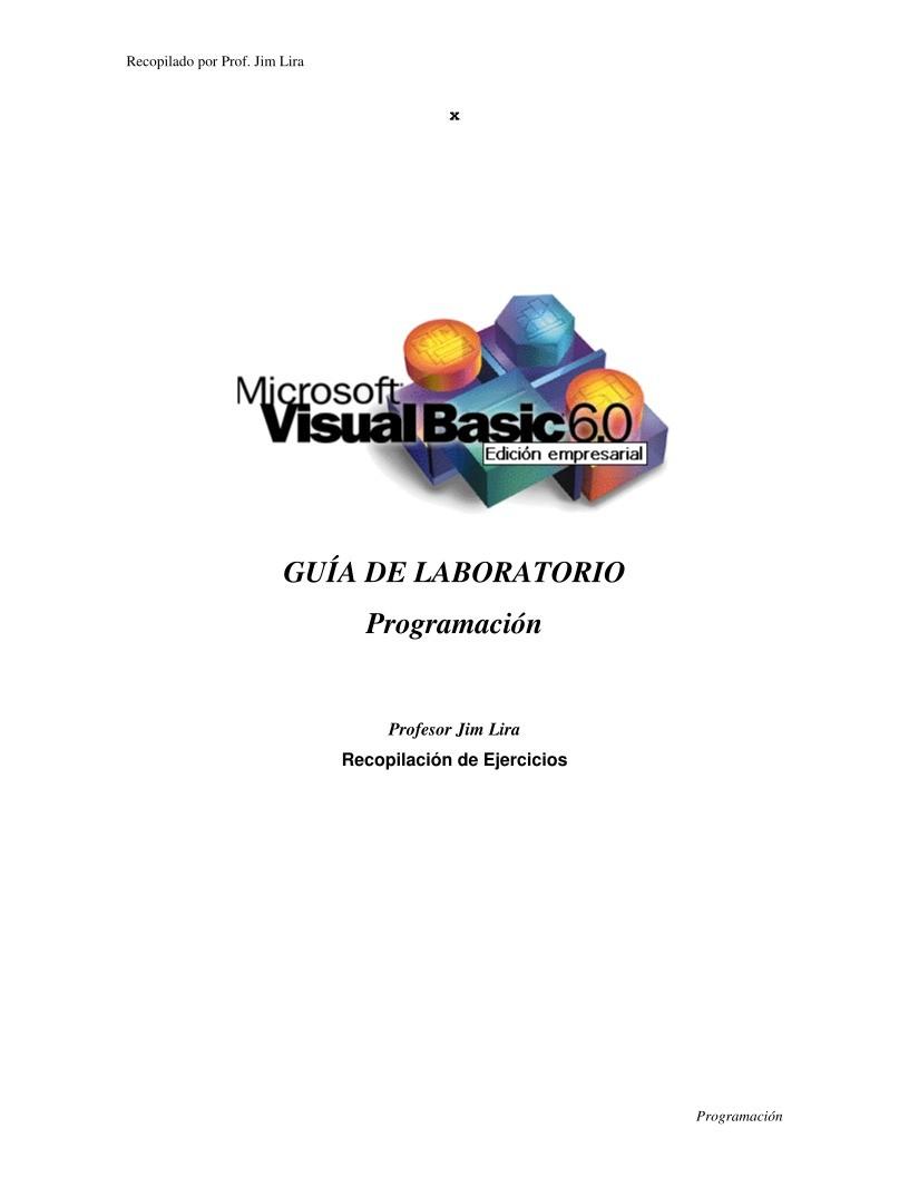 Manual pdf visual basic 6 0 Theory Notes In Hindi