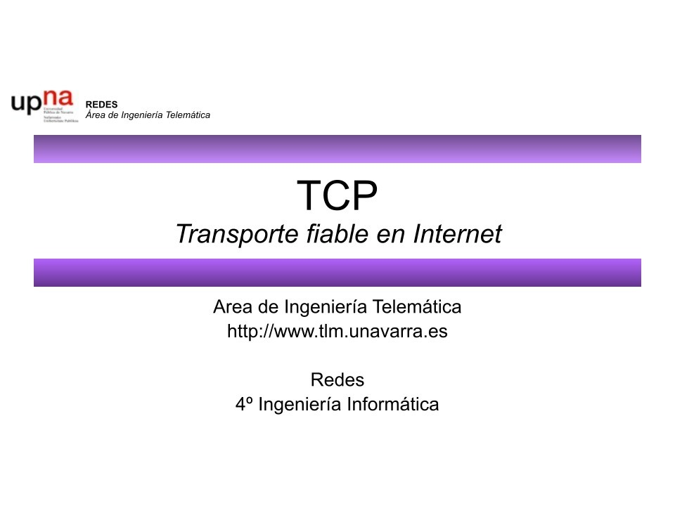 Imágen de pdf TCP Transporte fiable en Internet
