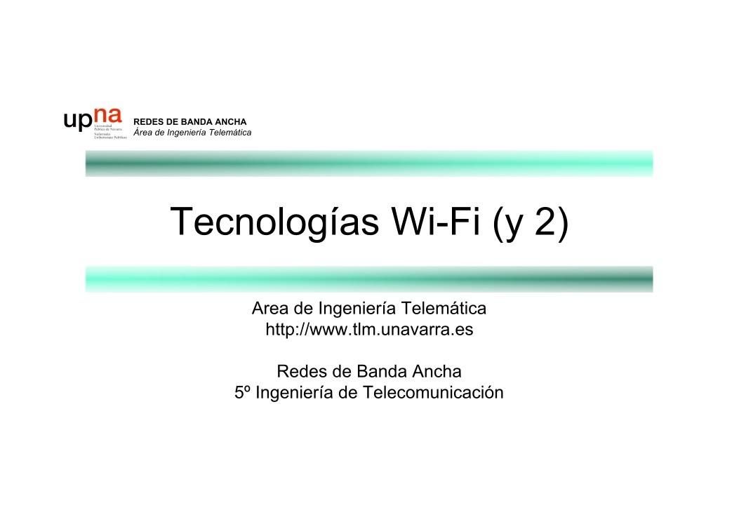 PDF de programación - Tecnologías Wi-Fi (y 2)