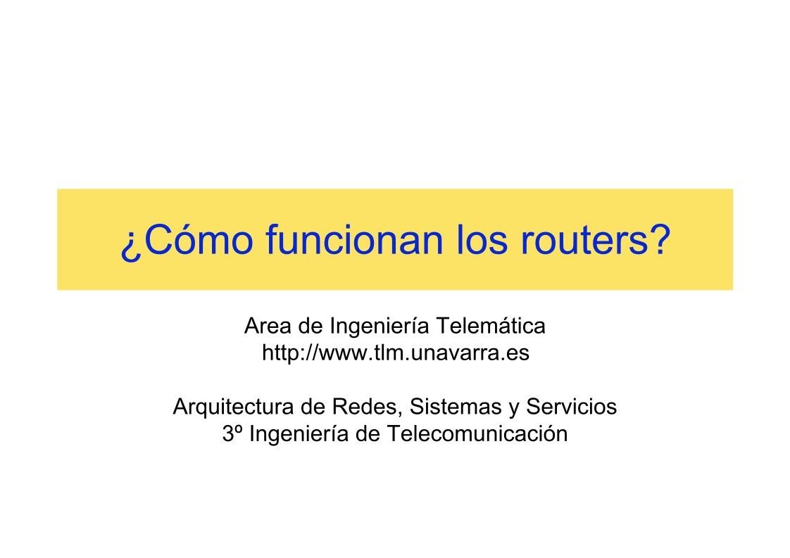 Pdf de programaci n c mo funcionan los routers - Como funcionan los emisores termicos ...