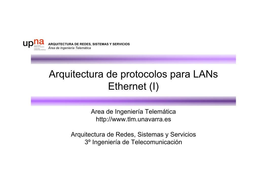 Pdf de programaci n arquitectura de protocolos para lans for Arquitectura para la educacion pdf