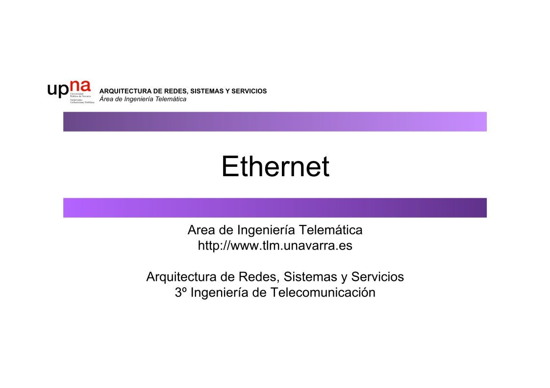 PDF de programación - Ethernet