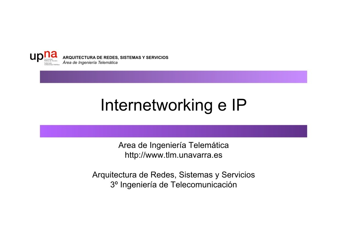 Imágen de pdf Internetworking e IP