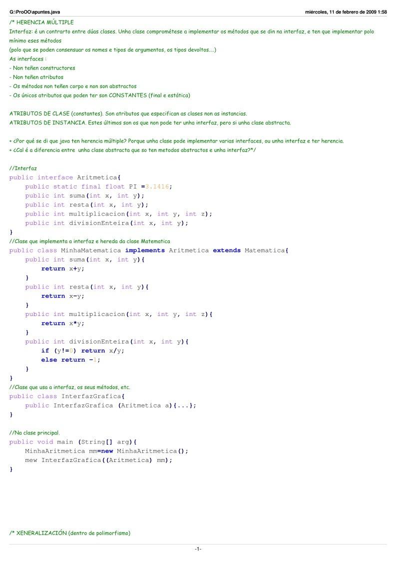 PDF de programación - Apuntes POO en Java