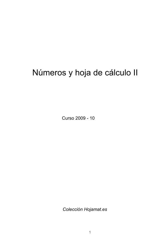 PDF de programación - Números y hoja de cálculo V