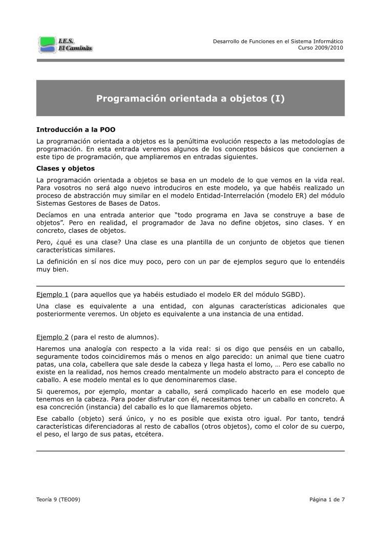 programacion orientada a objetos pdf