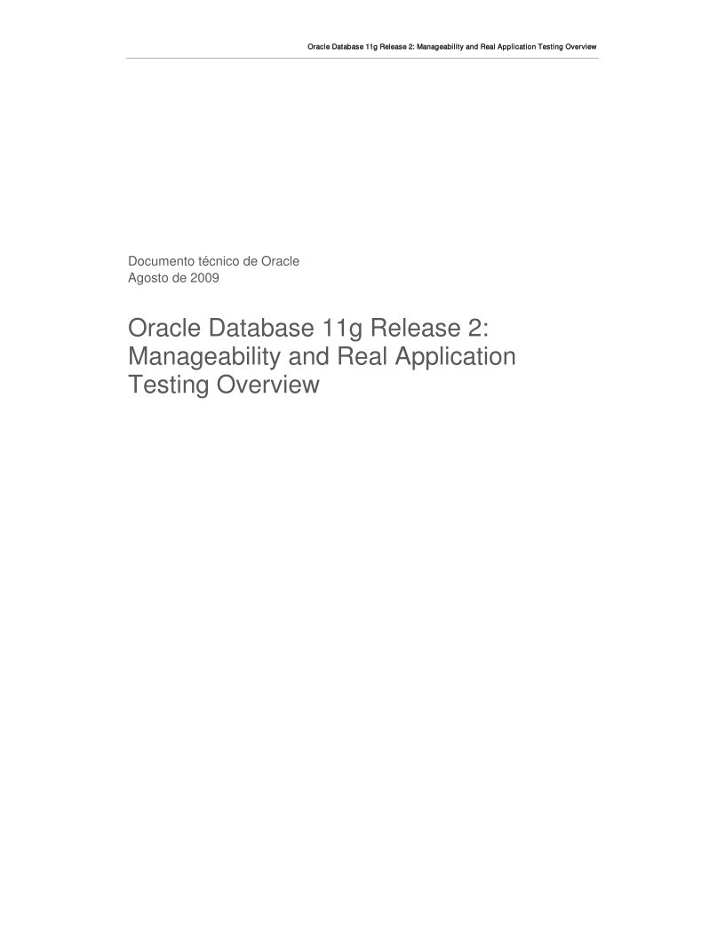 Imágen de pdf Oracle Database 11g Release 2: Manageability and Real Application Testing Overview