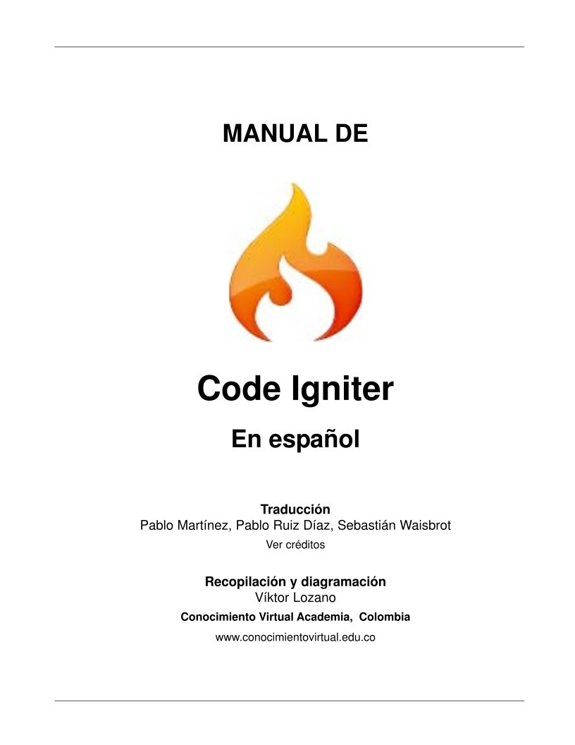 Pdf de programaci n manual de code igniter for Manual de acuicultura pdf