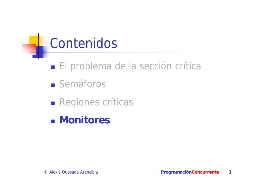 PDF de programación - Tema 2. Monitores