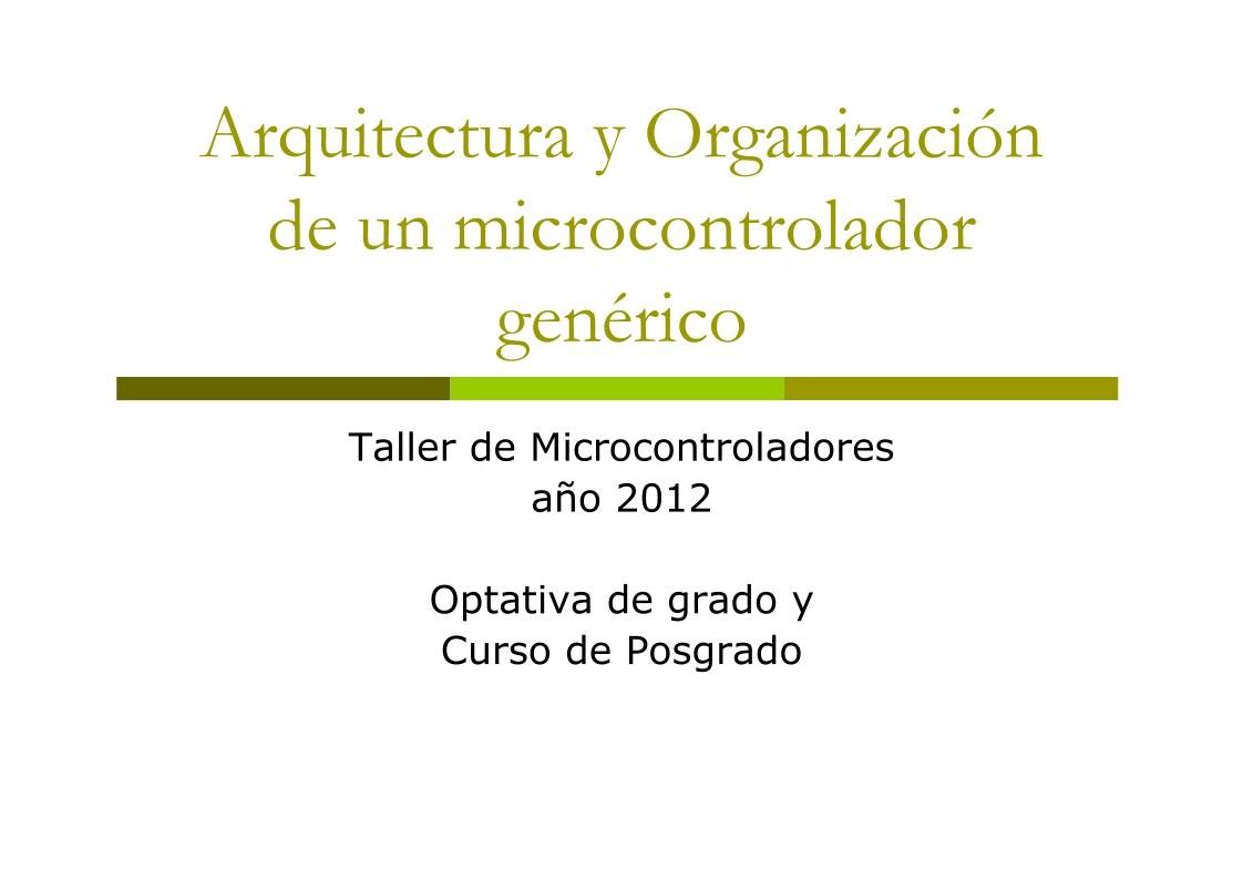 Pdf De Programaci N Arquitectura Y Organizaci N De Un
