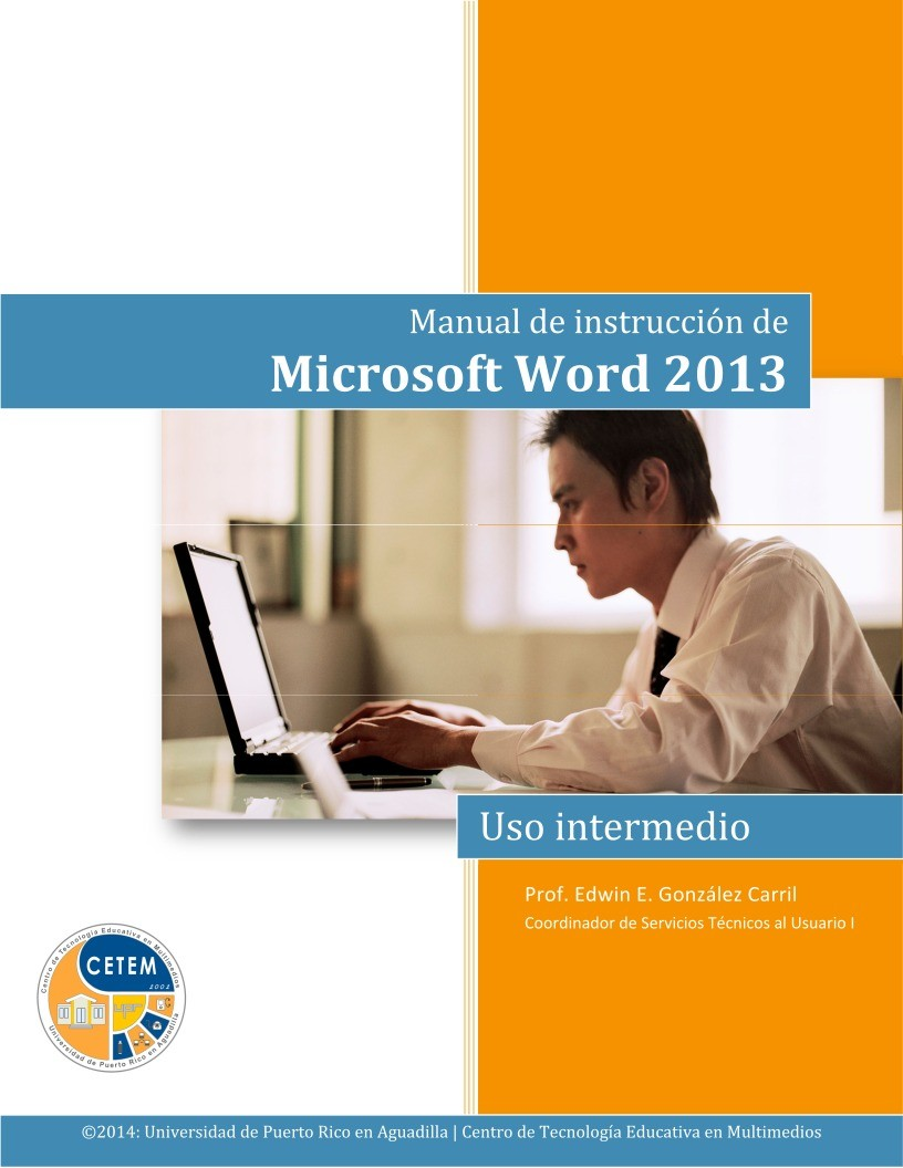 Imágen de pdf Word 2013 Uso intermedio